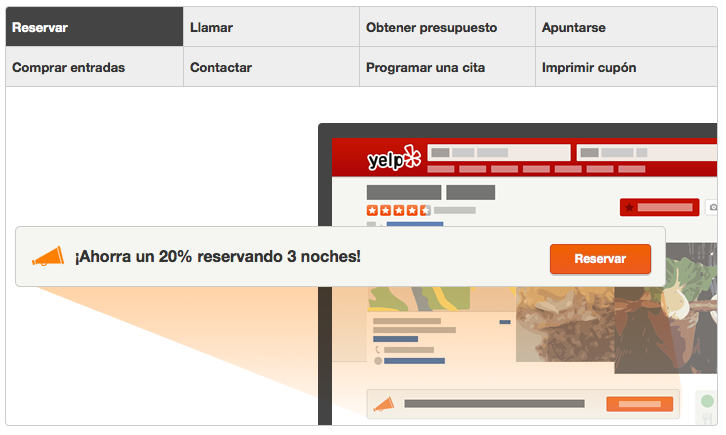 call to action en yelp